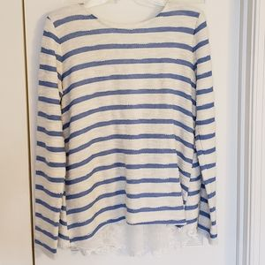 Anthropologie Sweater with Lace Back